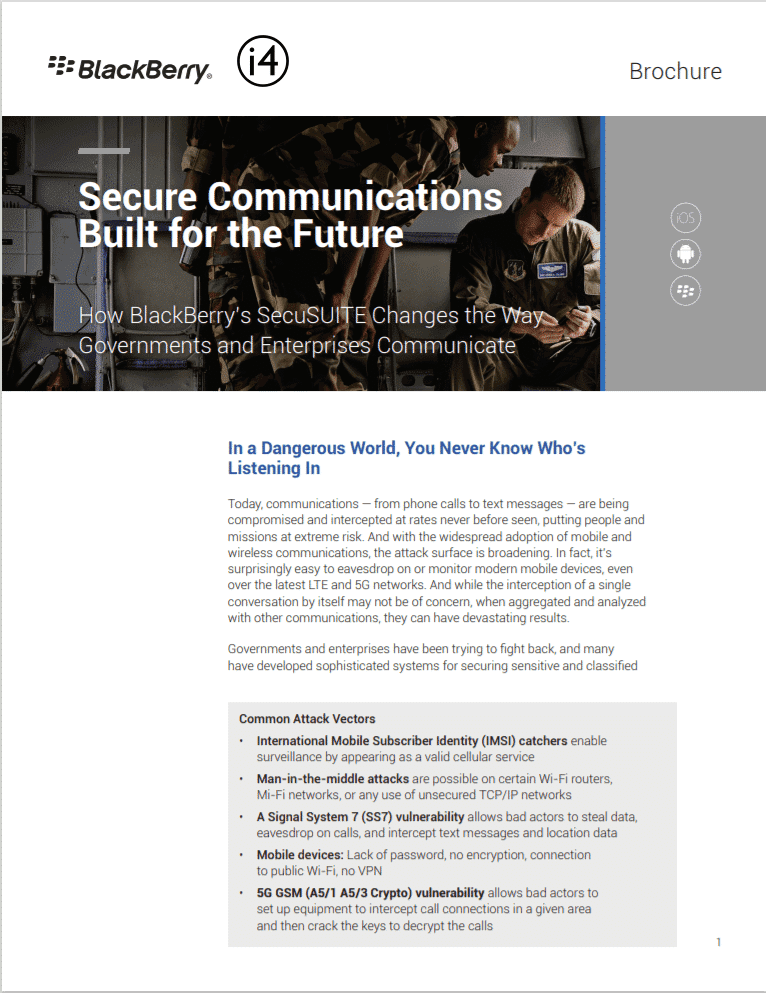 Secure Communications Built for the Future